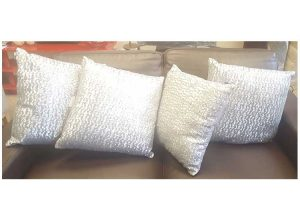 GreySilver sparkle cushions