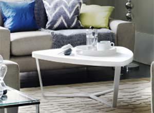 Trigon coffee table white